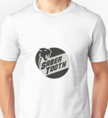 Saber Tooth Tiger Cat Head Circle Retro Unisex T-Shirt