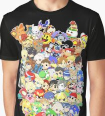 Super Smash Bros. All 58 Characters! Group Graphic T-Shirt