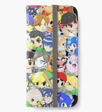 Super Smash Bros. All 58 Characters! Group iPhone Wallet/Case/Skin