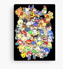 Super Smash Bros. All 58 Characters! Group Canvas Print
