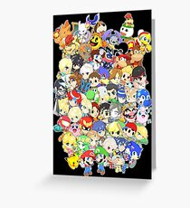 Super Smash Bros. All 58 Characters! Group Greeting Card