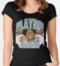 Playboi Carti Vintage Hip-Hop  Women's Fitted Scoop T-Shirt