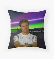 Nico Rosberg Mercedes formula 1 Throw Pillow