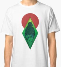 Geometric Crow in a diamond (color version) Classic T-Shirt