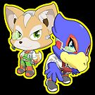 Super Smash Bros. Fox and Falco! by SSBFighters