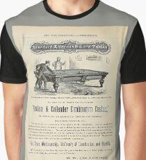 Antique 1874 Billiard Tables ad Graphic T-Shirt