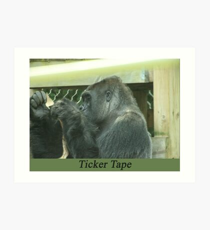 Ticker Tape Art Print
