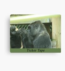 Ticker Tape Canvas Print