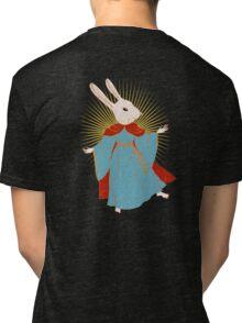 Saint Bunny has your back Tri-blend T-Shirt