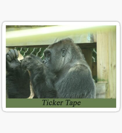 Ticker Tape Sticker