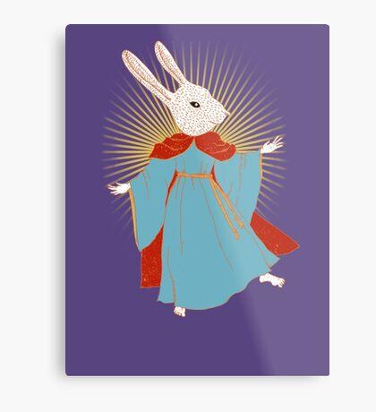 Saint Bunny has your back Metal Print