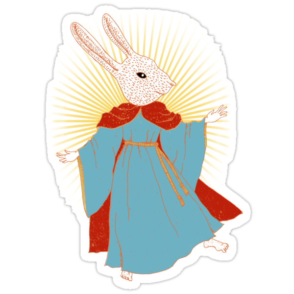 Saint Bunny has your back by SusanSanford