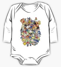 Super Smash Bros. All 58 Characters!! Group One Piece - Long Sleeve