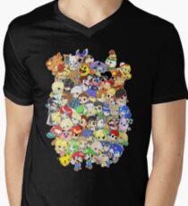 Super Smash Bros. All 58 Characters! Group Men's V-Neck T-Shirt