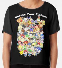 Super Smash Bros. All 58 Characters! Choose Your Fighter! Group Chiffon Top