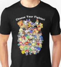 Super Smash Bros. All 58 Characters! Choose Your Fighter! Group Unisex T-Shirt