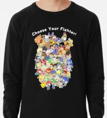 Super Smash Bros. All 58 Characters! Choose Your Fighter! Group Lightweight Sweatshirt