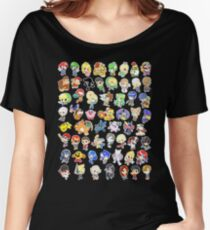 Super Smash Bros. All 58 Characters!  Women's Relaxed Fit T-Shirt