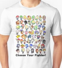 Super Smash Bros. All 58 Characters! Choose Your Fighter!! Unisex T-Shirt