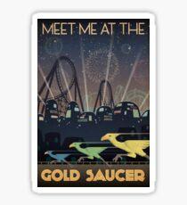 Final Fantasy VII Gold Saucer Travel Poster Sticker