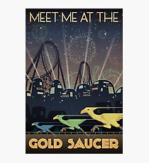 Final Fantasy VII Gold Saucer Travel Poster Photographic Print
