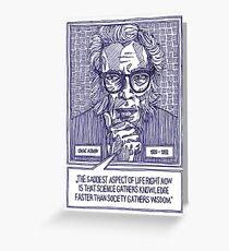 Isaac Asimov Greeting Card