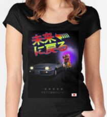 Nissan Exa Back to the Future (JAP) Women's Fitted Scoop T-Shirt