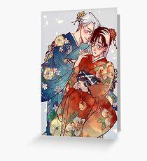 Victuuri Kimonos Greeting Card