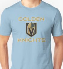 A Golden Vegas Sports Shirt Knight Emblem Tshirt Unisex T-Shirt
