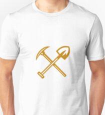 Pick Axe Shovel Crossed Retro Unisex T-Shirt