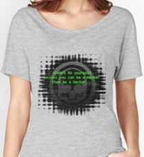 Hacker 1.0 - Geek Philosophy style skull - Software, coding and hacking designs  Women's Relaxed Fit T-Shirt