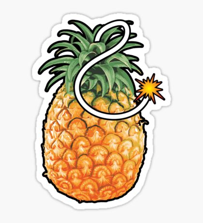 Pineapple Bomb Sticker