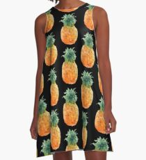 Pineapple Triangles A-Line Dress