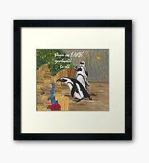 Penguin Wishes Framed Print