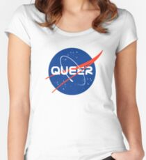 Queer - Nasa inspired logo Women's Fitted Scoop T-Shirt