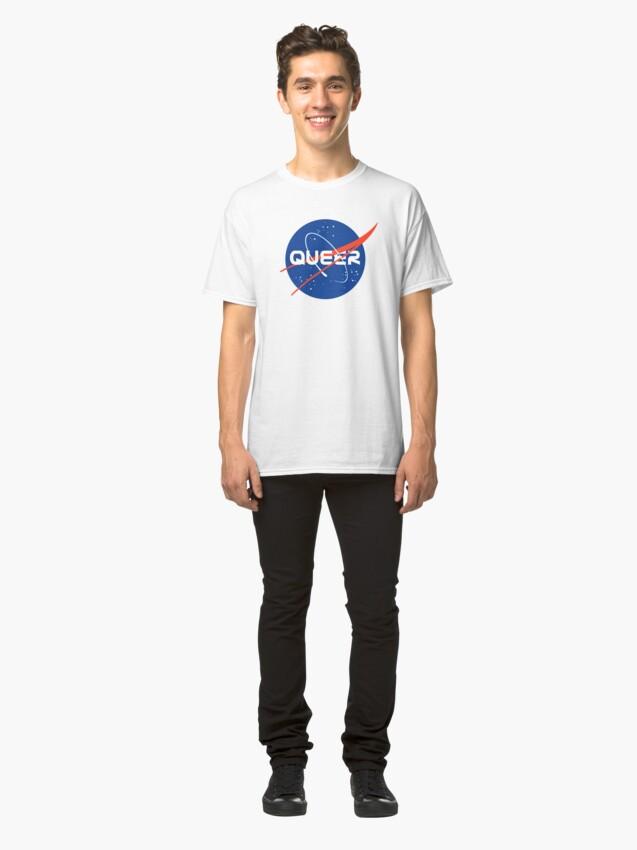 Alternative Ansicht von Queer - Nasa inspiriertes Logo Classic T-Shirt