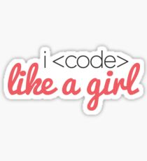 I Code Like a Girl Sticker