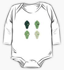 oak leaves. cubistic. One Piece - Long Sleeve