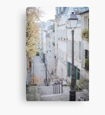 Charming Paris Montmartre Neighborhood Canvas Print