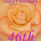 Happy 46th Birthday Flower by martinspixs