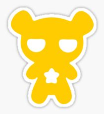 Attention! Yellow Lazy Bear! Sticker