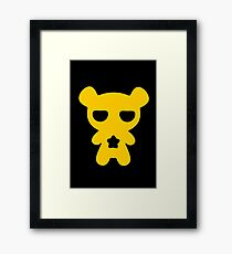 Lazy Bear Yellow Attention Framed Print