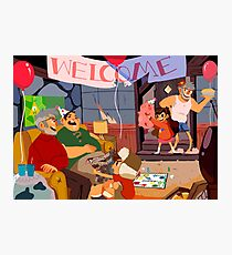 Gravity Falls Family Welcome Photographic Print