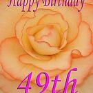 Happy 49th Birthday Flower by martinspixs