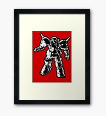 The Impossibles Self Titled Robot B&W Framed Print