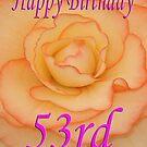 Happy 53rd Birthday Flower by martinspixs