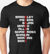 STOKE CITY spelt using player names  T-Shirt