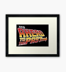 Go Retro - Ahead To The Past Framed Print