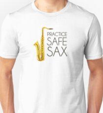 Practice Safe Sax Slim Fit T-Shirt