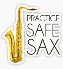 Practice Safe Sax Sticker